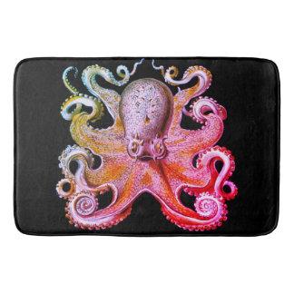 Nautical sea  Octopus bath mat pink rainbow