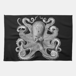 Nautical sea  Octopus decor kitchen towel