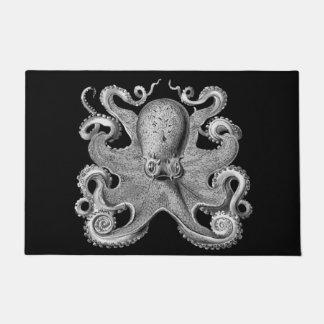 Nautical sea  Octopus decor welcome mat grey