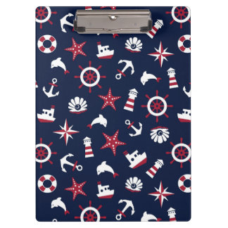 Nautical Sea Pattern Clipboard