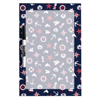 Nautical Sea Pattern Dry Erase Board