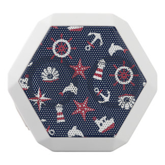 Nautical Sea Pattern White Bluetooth Speaker