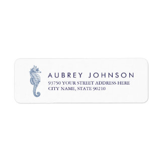 Nautical Seahorse Address Labels