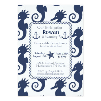 Nautical Seahorse Birthday Card