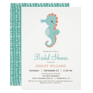 Nautical Seahorse Bridal Shower Invitation