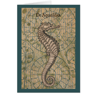 Nautical Seahorse Card