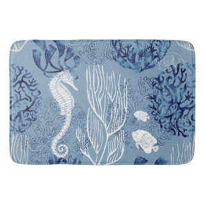 Nautical Seahorse Collection Bath Mat