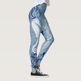 Nautical Seahorse & Fish Leggings