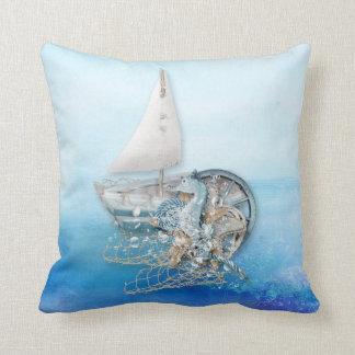 Nautical Seahorse & Fish - Sea - All Options Cushion