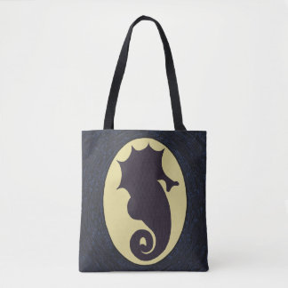 Nautical Seahorse Tote Bag