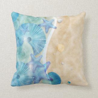 Nautical Seashells & Beach Cushion