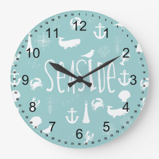 Nautical Seaside Large Clock