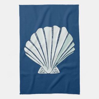 Nautical Seaside Shell Tea Towel
