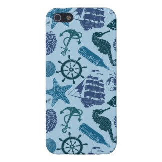 Nautical Shades Of Blue Pattern iPhone 5 Cases