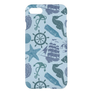 Nautical Shades Of Blue Pattern iPhone 8/7 Case