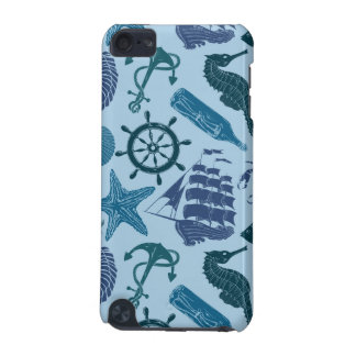 Nautical Shades Of Blue Pattern iPod Touch (5th Generation) Cover
