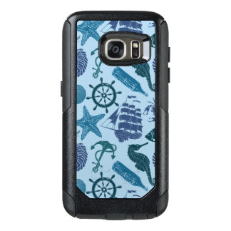 Nautical Shades Of Blue Pattern OtterBox Samsung Galaxy S7 Case