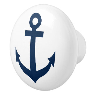Nautical ship anchor door and drawer pull knobs