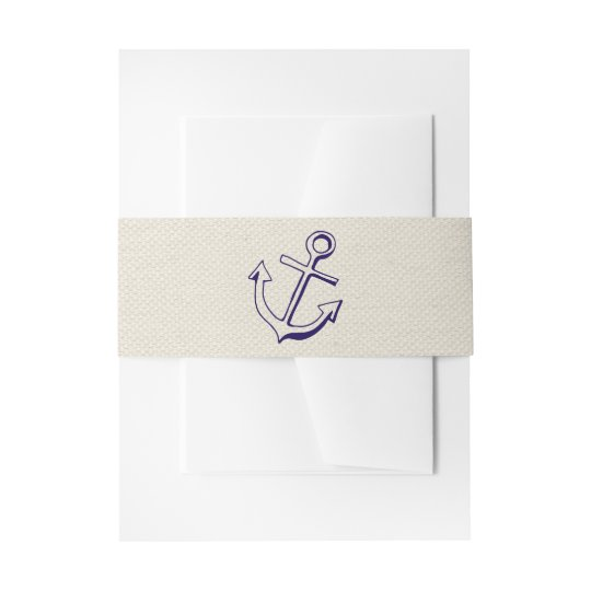 Nautical Ship Anchor Navy Blue Tan Wedding Sailor