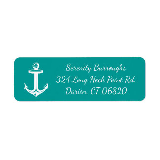 Nautical Ship Anchor Teal Turquoise Beach Ocean