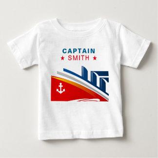 Nautical Ship | Baby Sailor | Baby Captain Name Baby T-Shirt