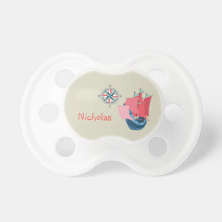 Nautical Ship Boat Anchor Personalized Pacifier