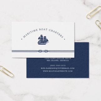 Nautical Ship | Boat Charter Business Card