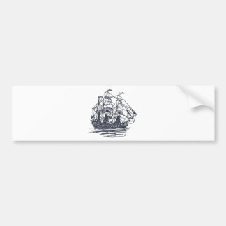 Nautical Ship Bumper Sticker