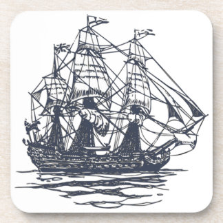 Nautical Ship Cork Coaster