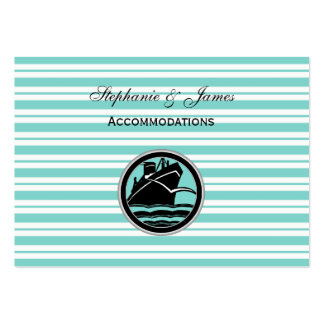 Nautical Ship Lt Blue White Stripe Accommodations Business Card