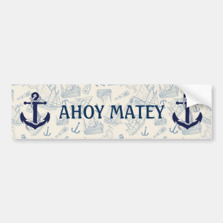 NAUTICAL SHIPS BUMPER STICKER