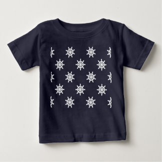 Nautical ship's wheel pattern baby T-Shirt