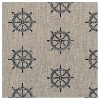 Nautical Ships Wheel | Vintage Fabric