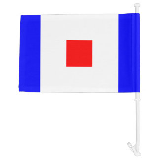 Nautical Sign Flag Whiskey Letter W Car Flag