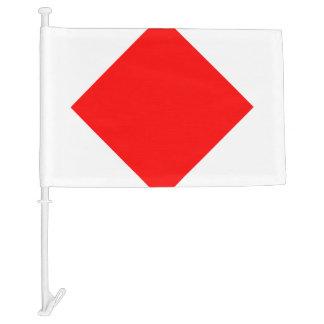 Nautical Signal Flag Foxtrot Letter F Car Flag