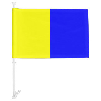 Nautical Signal Flag Kilo Letter K Car Flag