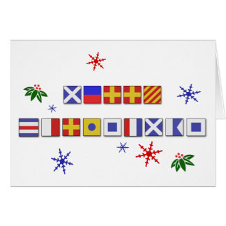 Nautical Signal Flag Merry Christmas Card