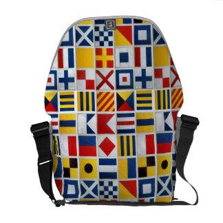 Nautical Signal Flags Messenger Bags