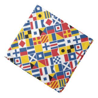 Nautical Signal Flags Pattern Bandana