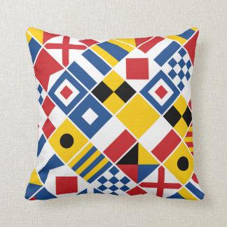 Nautical Signal Flags Pattern Cushion