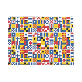 Nautical Signal Flags Pattern Doormat