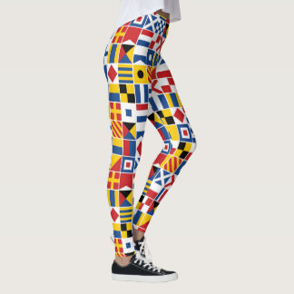 Nautical Signal Flags Pattern Leggings