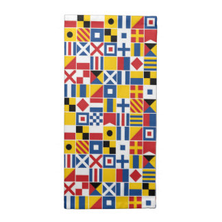 Nautical Signal Flags Pattern Napkin