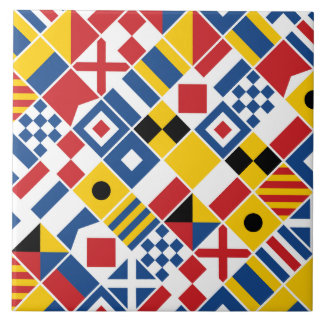 Nautical Signal Flags Pattern Tile