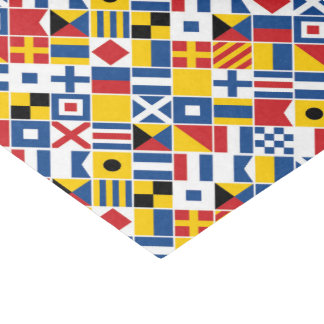 Nautical Signal Flags Pattern Tissue Paper