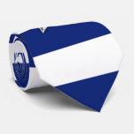 Nautical Silver Star on navy blue Stripes Tie