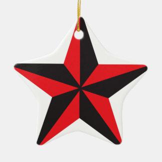 Nautical Star Ceramic Star Decoration