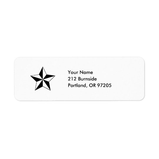 Nautical Star Label Return Address Label