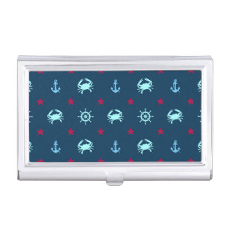 Nautical Star Pattern Business Card Holder