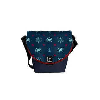 Nautical Star Pattern Commuter Bags